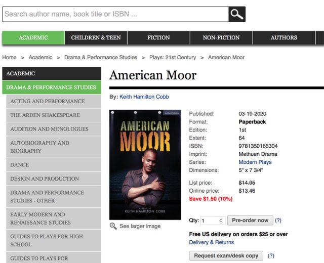 American Moor Purchasing Portal Bloomsbury