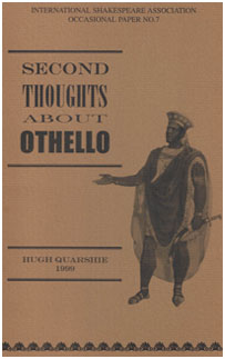 Second Thoughts About Othello Hugh Quarshie